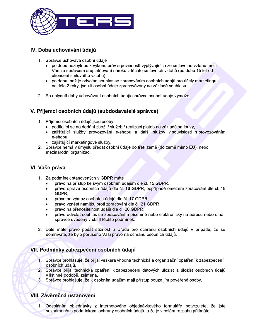 Zásady ochrany osobních údajů, strana 2