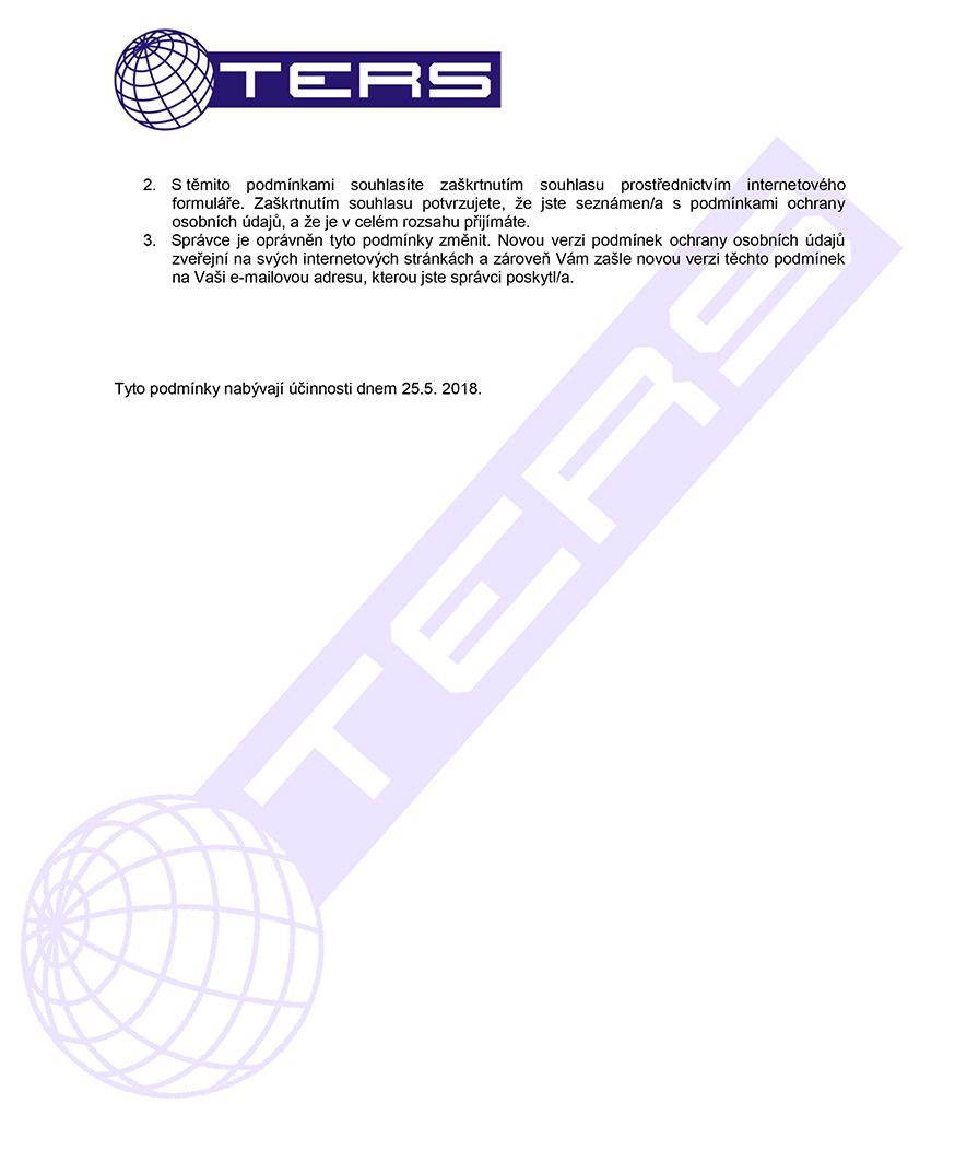 Zásady ochrany osobních údajů, strana 3