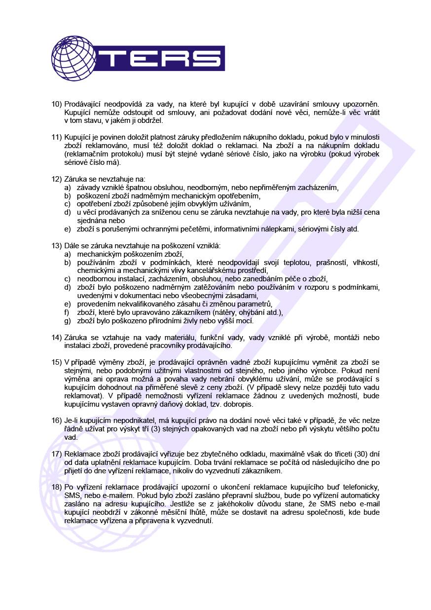 Reklamační řád, strana 2