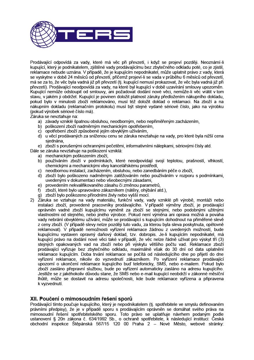 Obchodní podmínky, strana 5